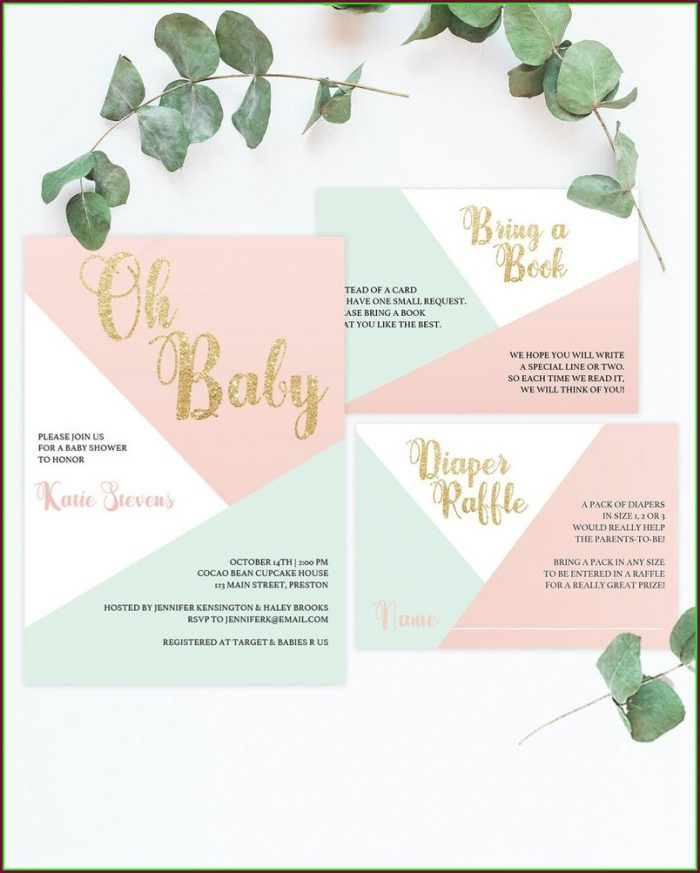 Downloadable Baby Shower Invites Template
