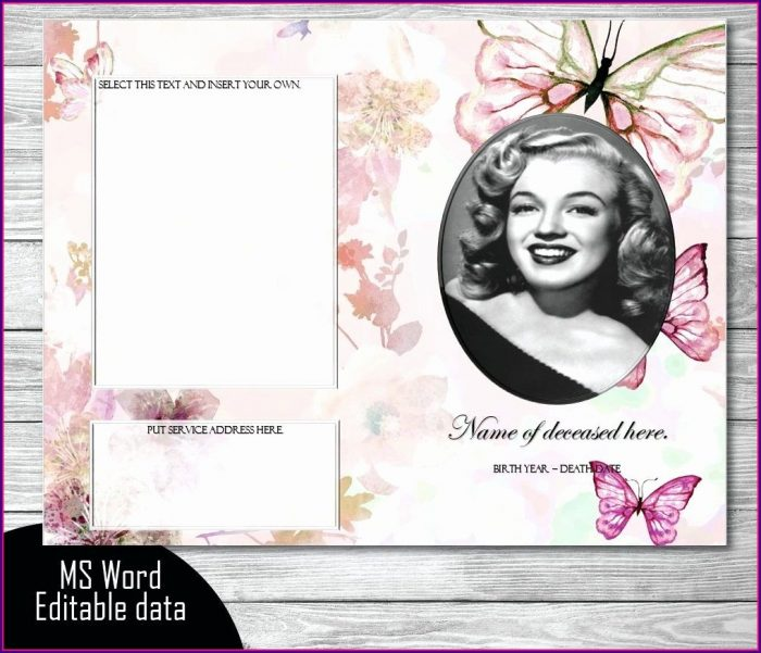 Downloadable Blank Funeral Template