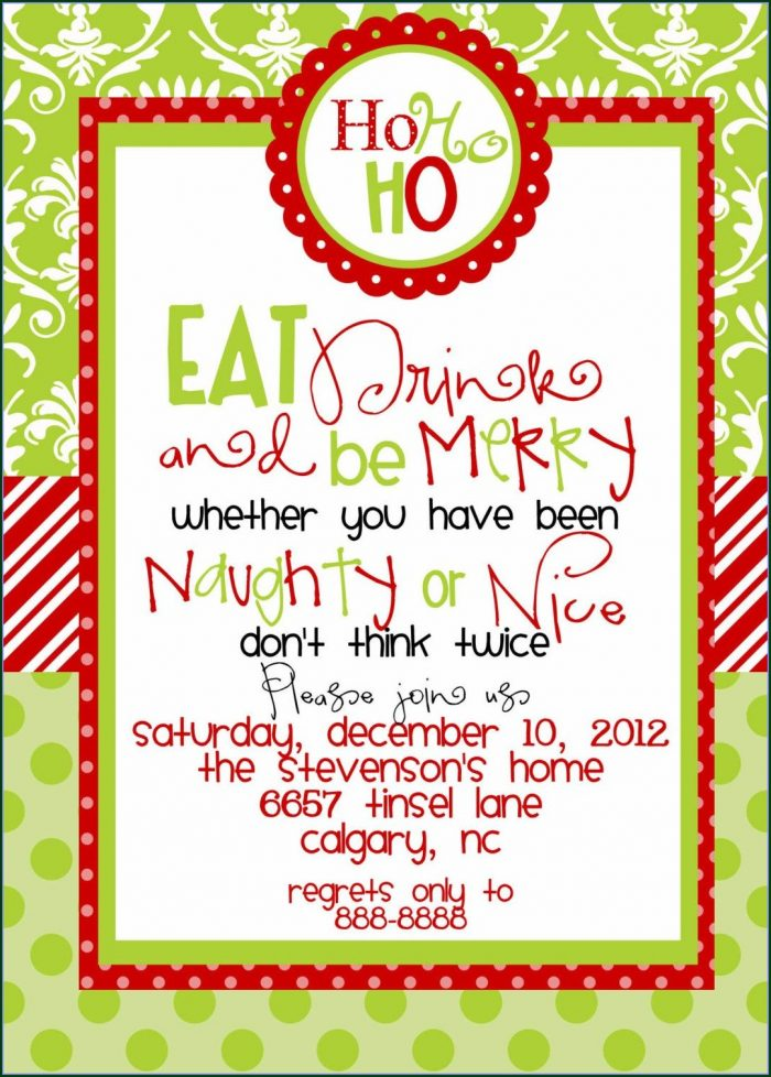 Downloadable Children's Christmas Party Invitation Templates Free