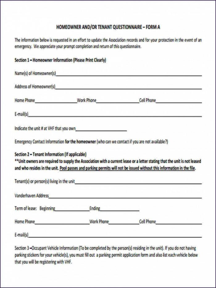 Downloadable Free Employment Application Template