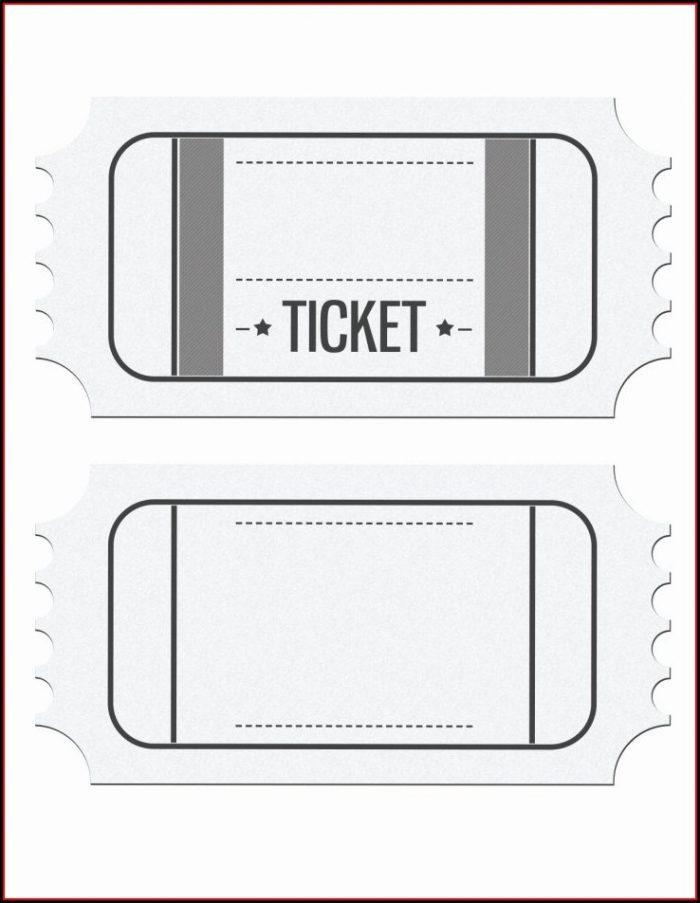 Downloadable Printable Ticket Template