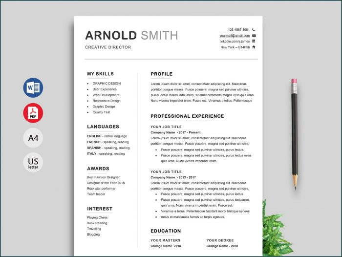 Downloadable Resume Templates Pdf