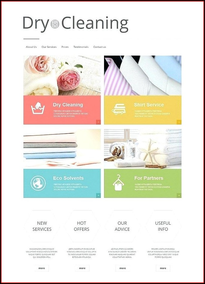 Dry Cleaning Website Template Free Download