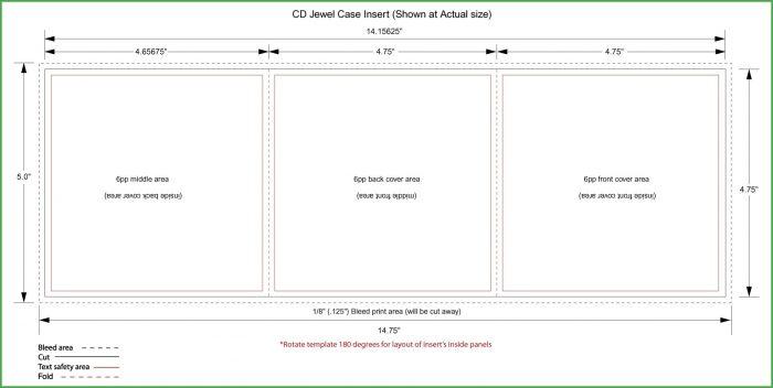 Dvd Jewel Case Insert Template