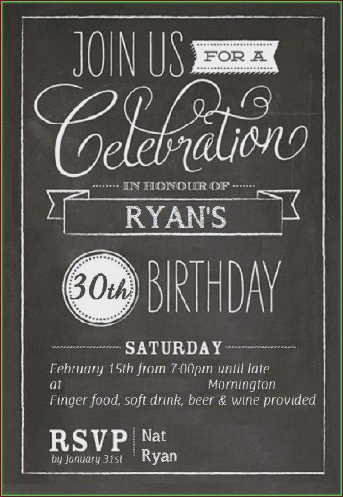 Editable 18th Birthday Invitation Template