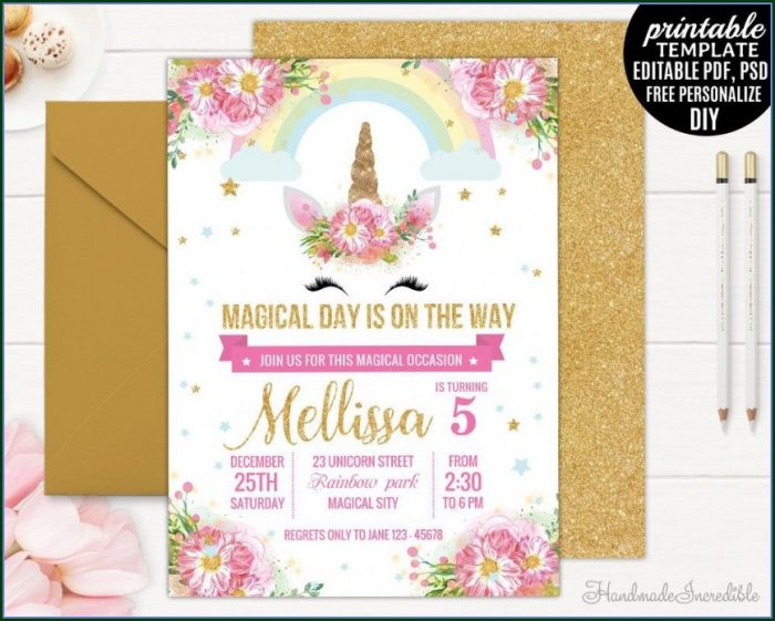 Editable Birthday Invitations Templates Free