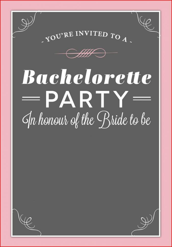 Editable Free Printable Bachelorette Party Invitations Templates