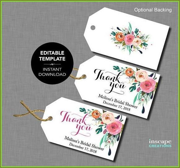 Editable Free Printable Wedding Favor Tags Template