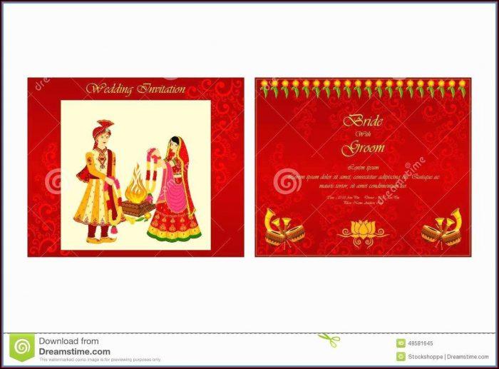 Editable Hindu Wedding Invitation Templates Free Download