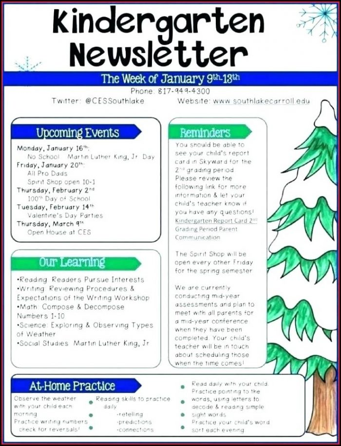 Editable Winter Newsletter Template