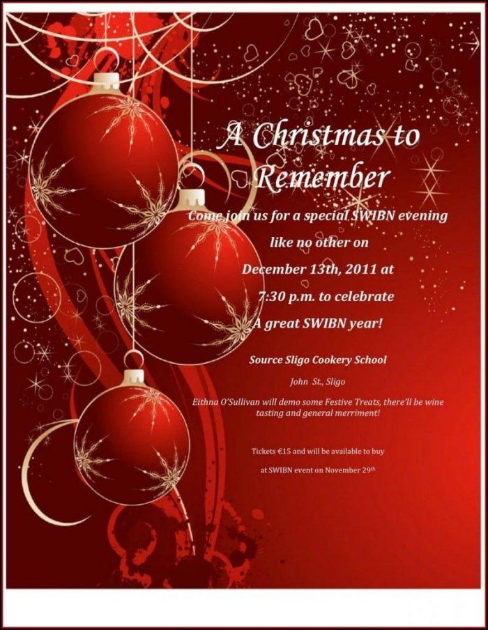 Elegant Christmas Invitations Templates Free