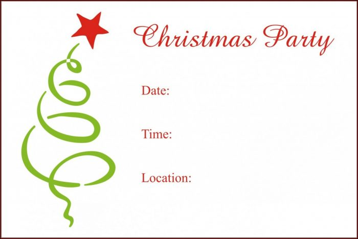 Email Free Holiday Party Invitation Templates Word