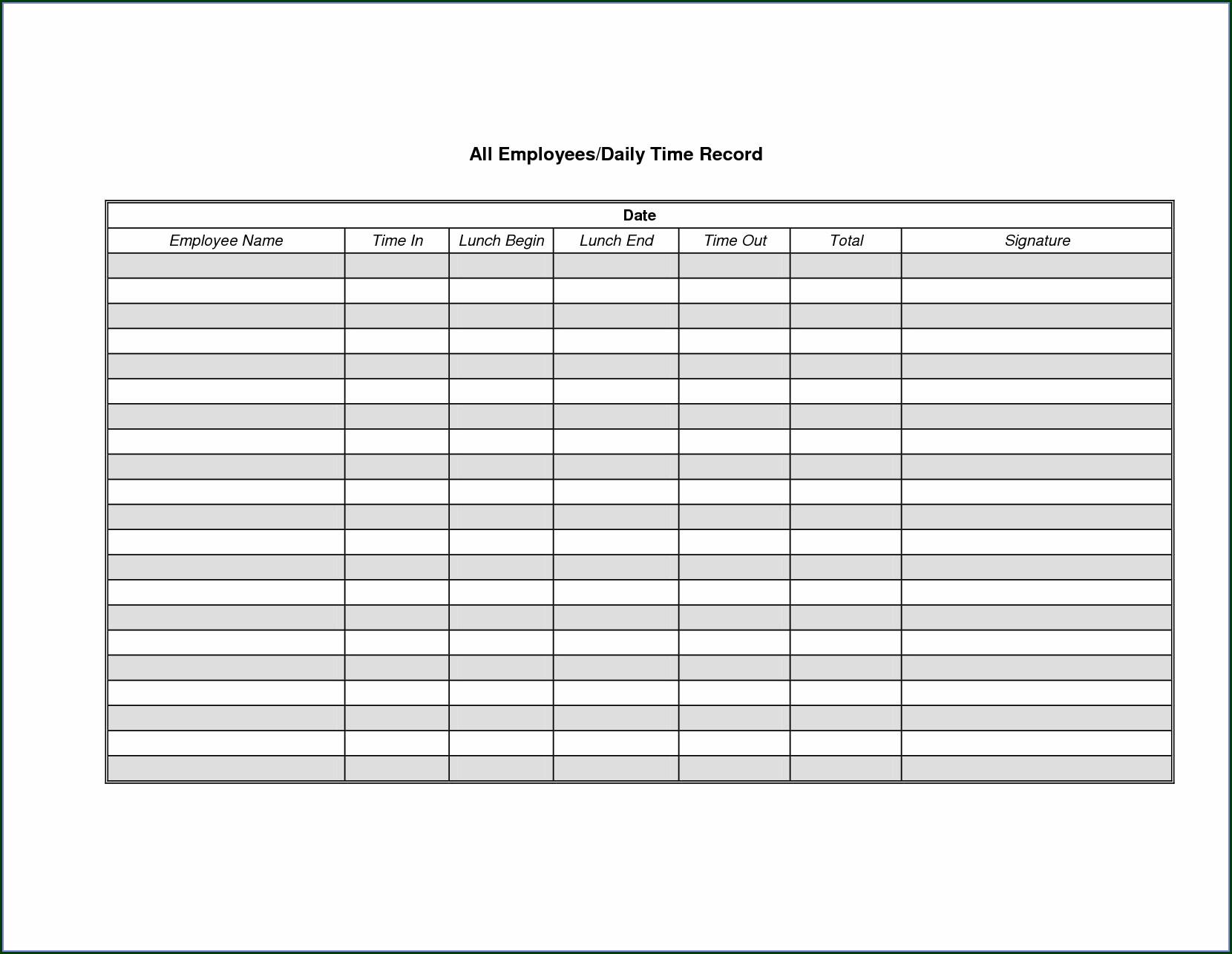 Employee Payroll Sheet Template