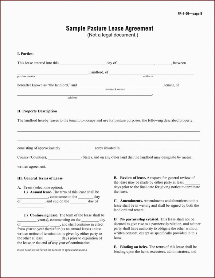 Equipment Rental Contract Template Free