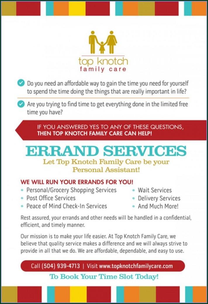 Errand Runner Errand Service Flyer Template