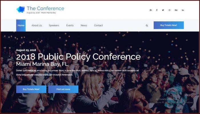 Event Management Website Templates Bootstrap