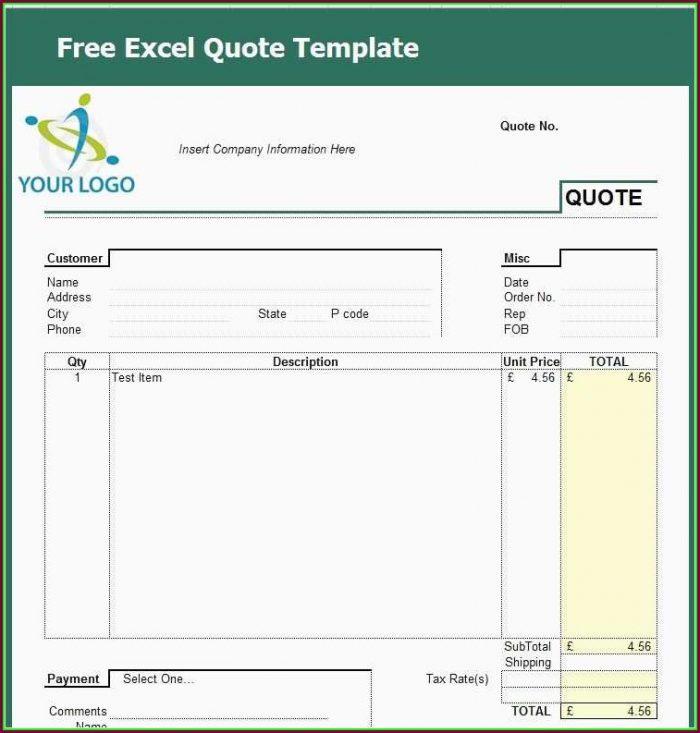 Excel Blank Work Order Template