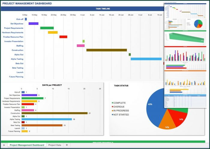 Excel Project Management Dashboard Template Free