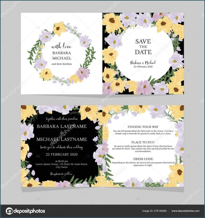 Folded Invitation Card Template