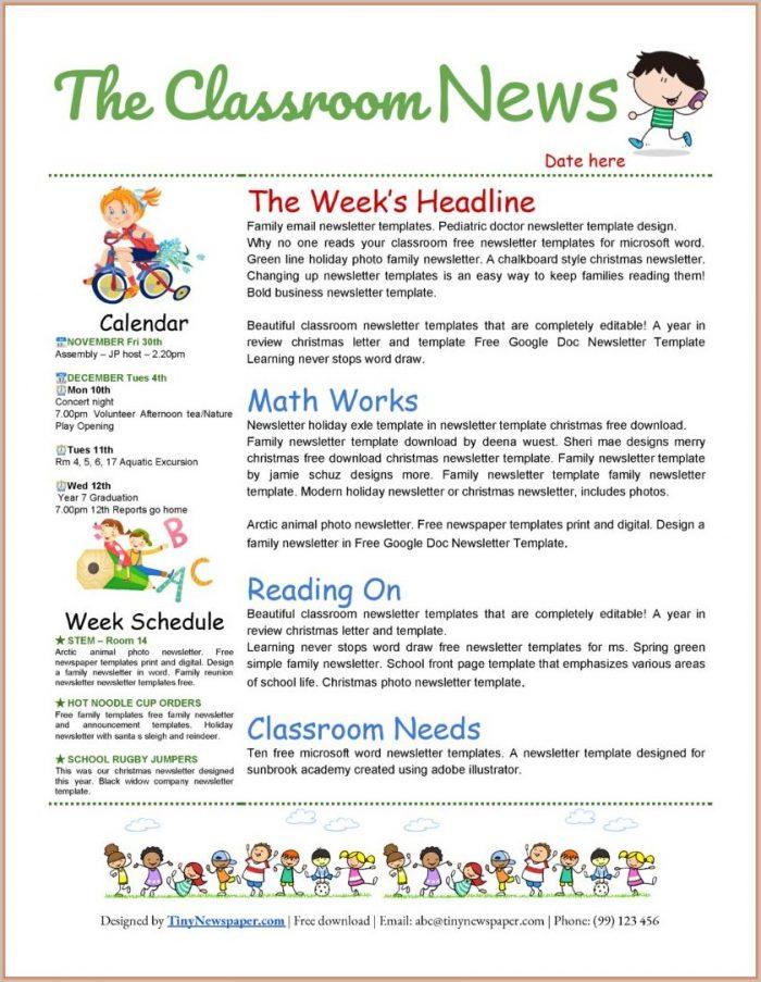Free Community Newsletter Templates