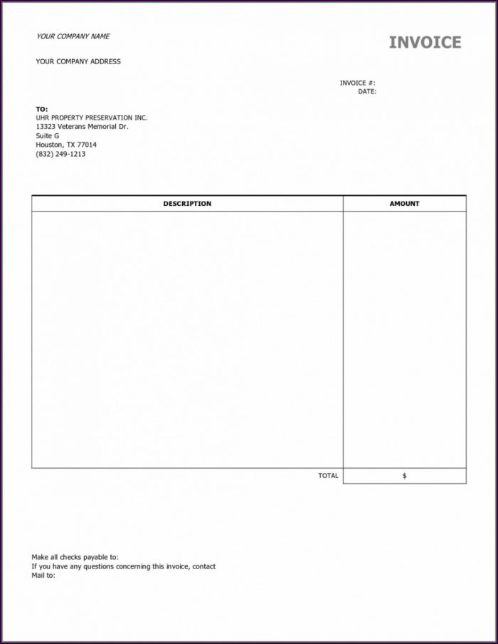 Free Consulting Invoice Template