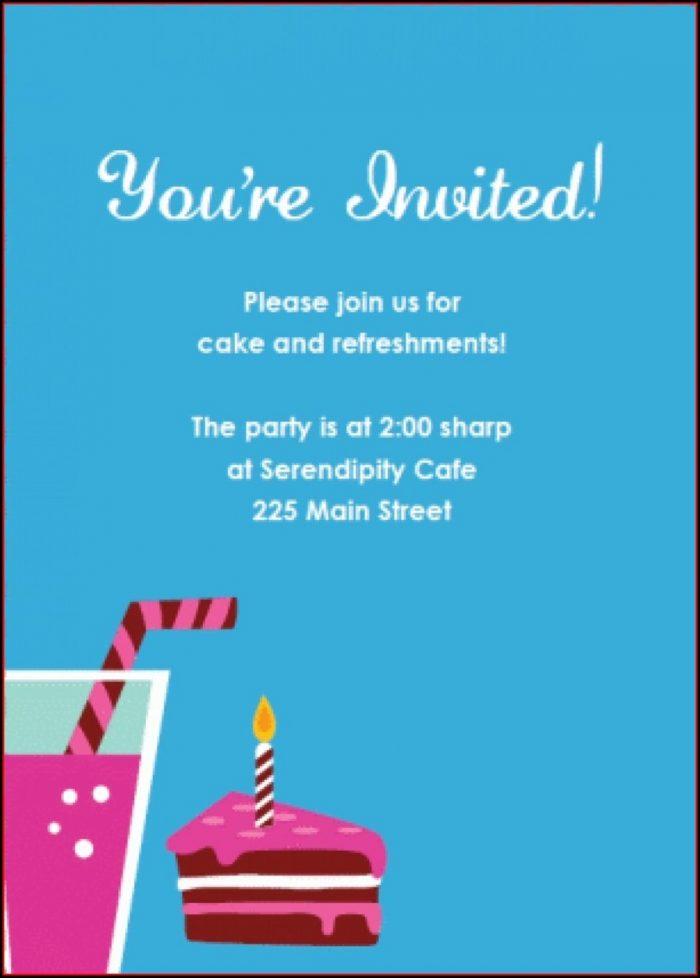 Free Dessert Party Invitation Templates