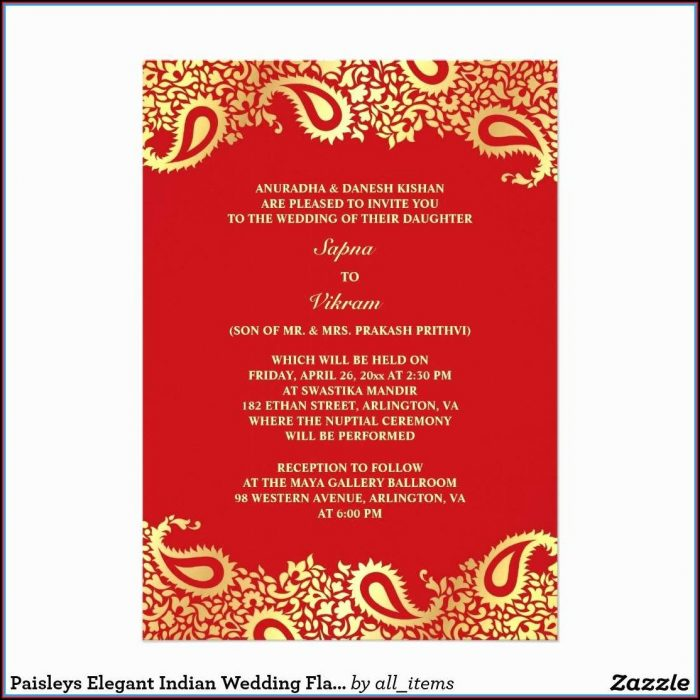 Free Hindu Wedding Invitation Templates