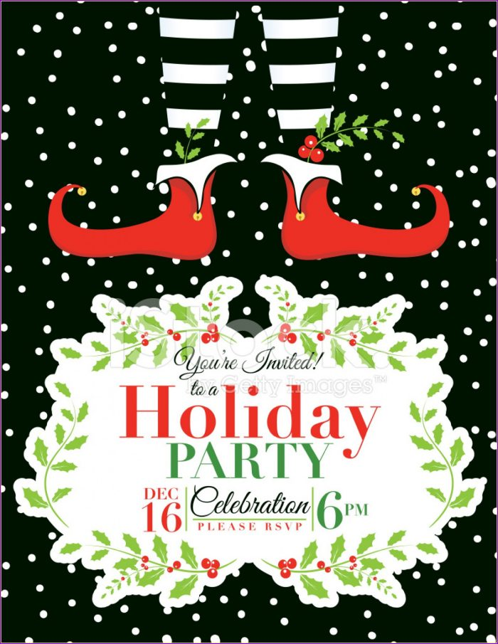 Free Holiday Party Announcement Templates