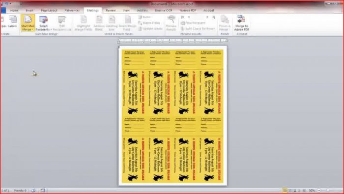 Free Numbered Raffle Ticket Template For Word