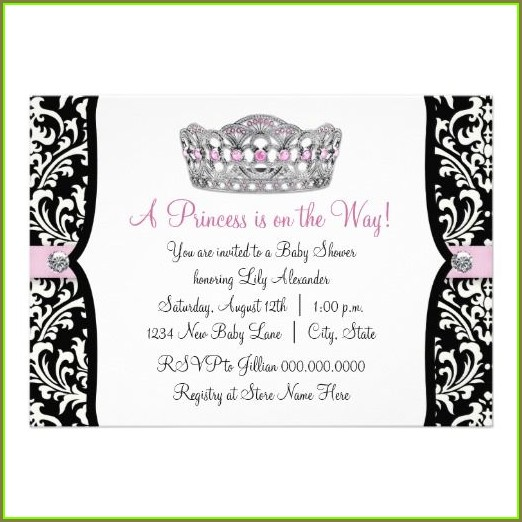 Free Pink And Black Invitation Templates