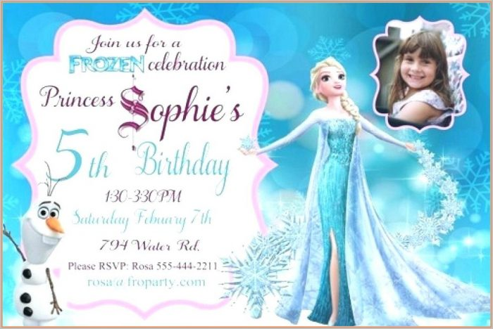 Free Printable Frozen 7th Birthday Invitation Template