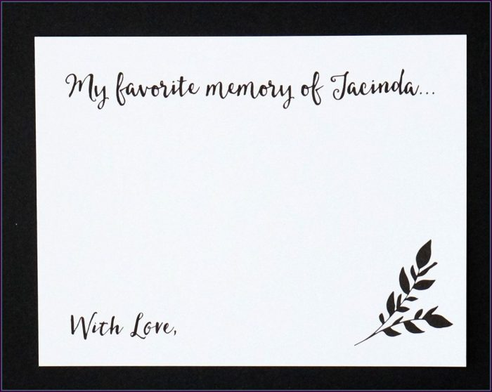 Free Printable Funeral Guest Book Template