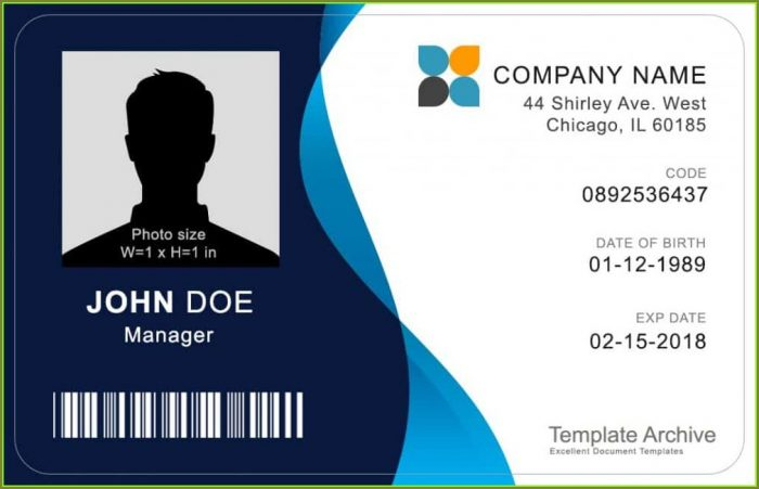 Free Printable Id Badge Template
