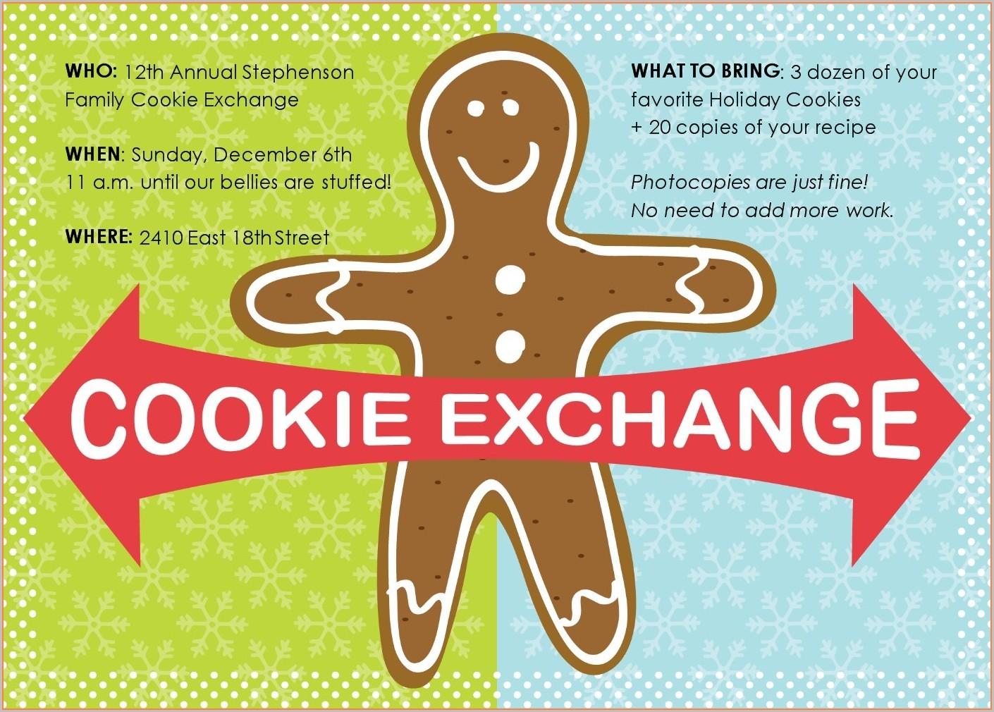 Free Printable Invitation Templates Christmas Cookie Exchange Invitations
