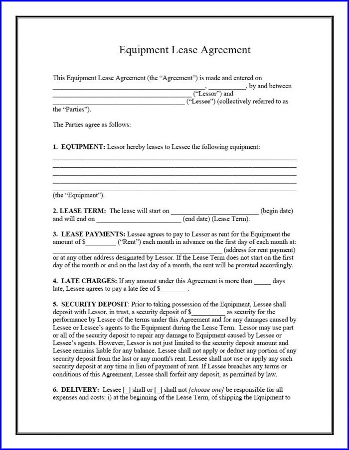 Free Printable Lease Agreement Template
