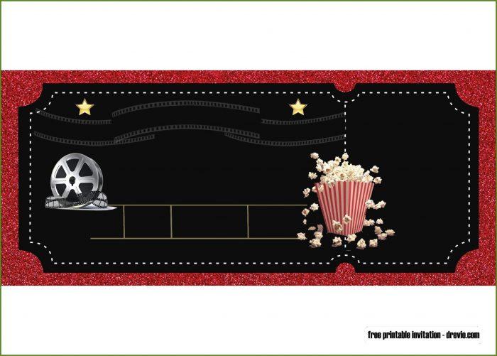Free Printable Movie Party Invitation Template