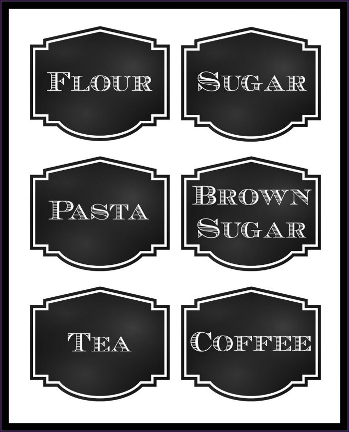 Free Printable Pantry Labels Templates