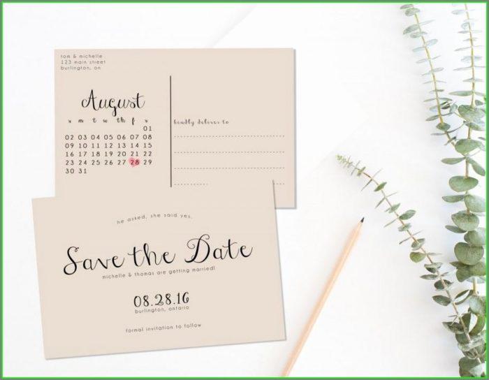 Free Printable Save The Date Postcard Templates