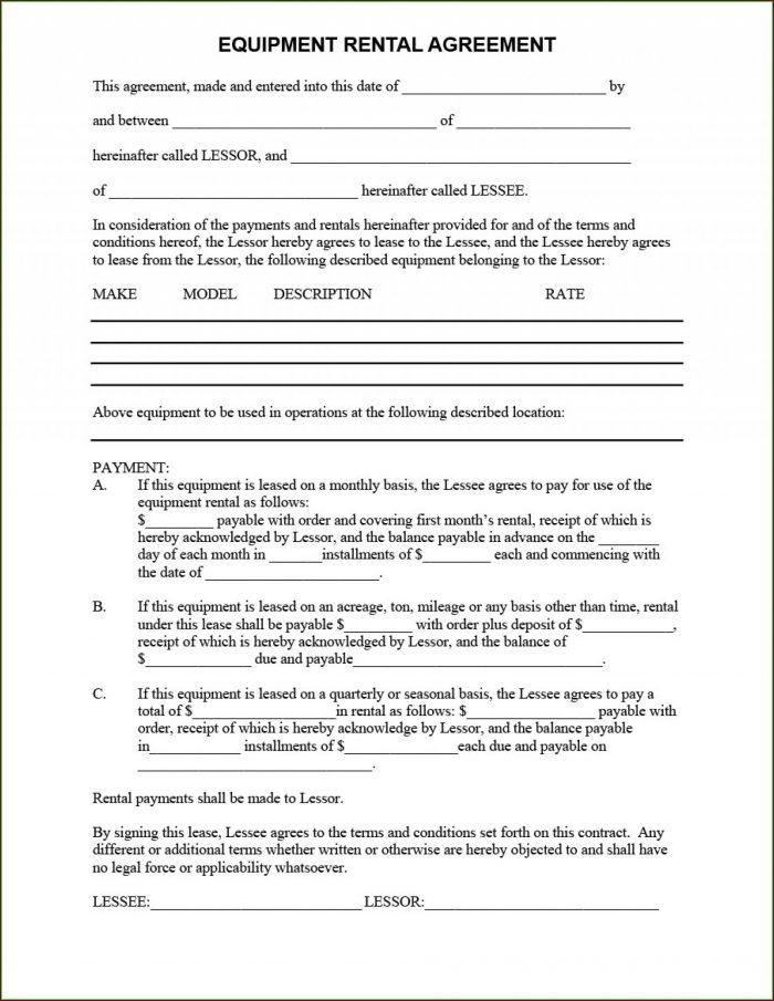 Free Rental Agreements Templates