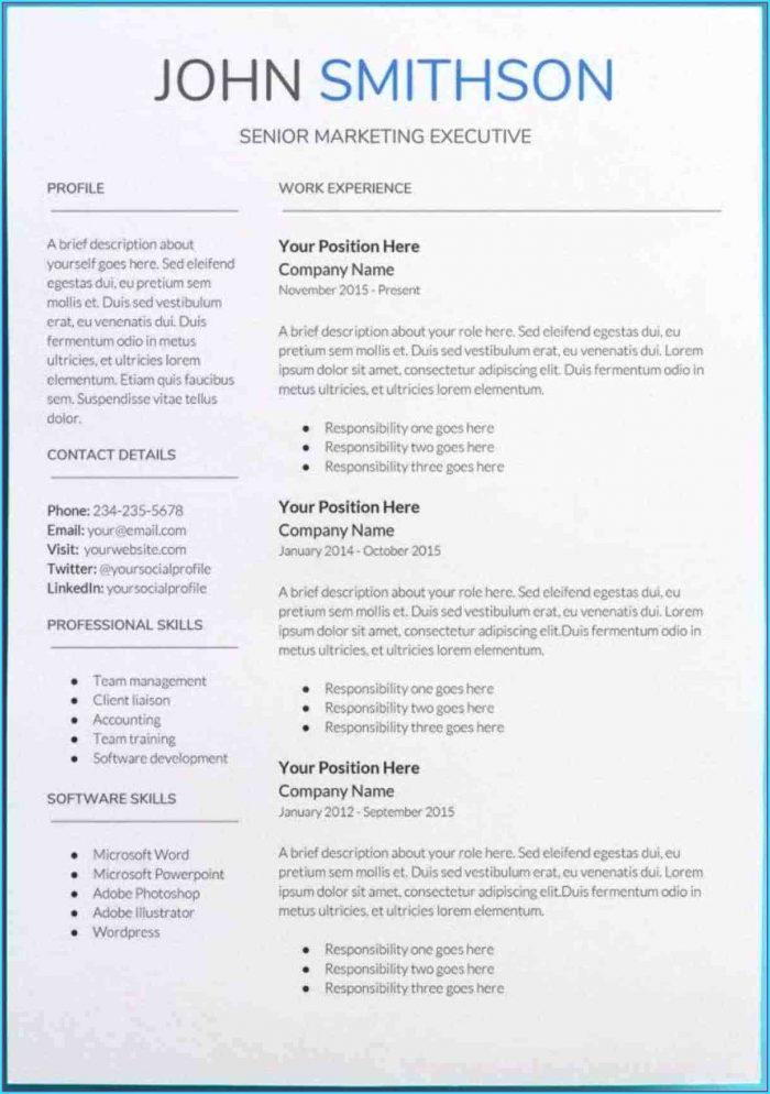 Free Resume Templates Google Docs Download