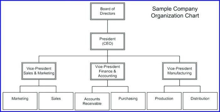 Free Small Business Organizational Chart Template