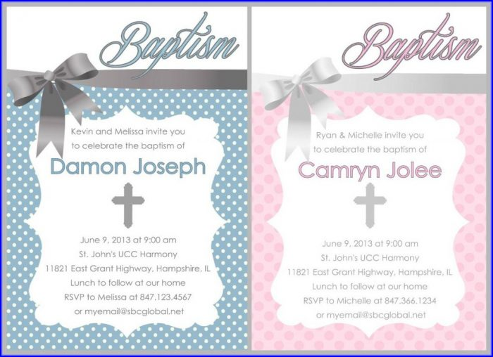 Free Templates For Baptism Invitations