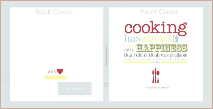 Front Cover Recipe Book Design Template