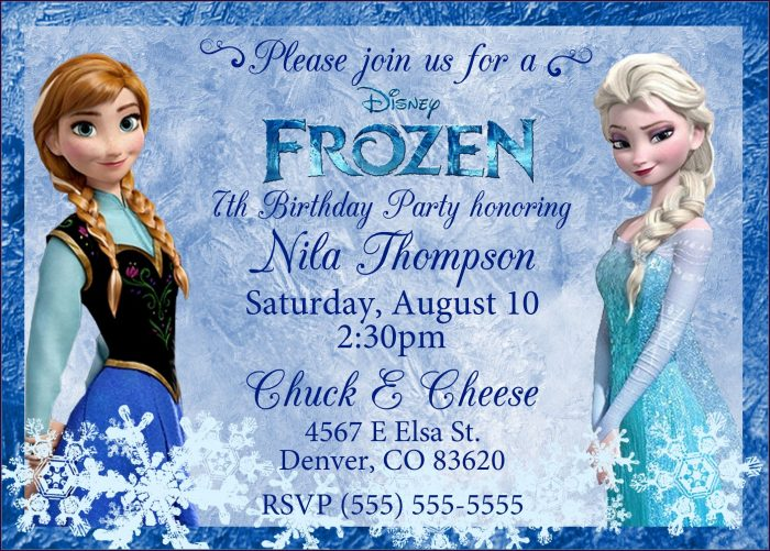 Frozen 2 Birthday Invitation Card Template
