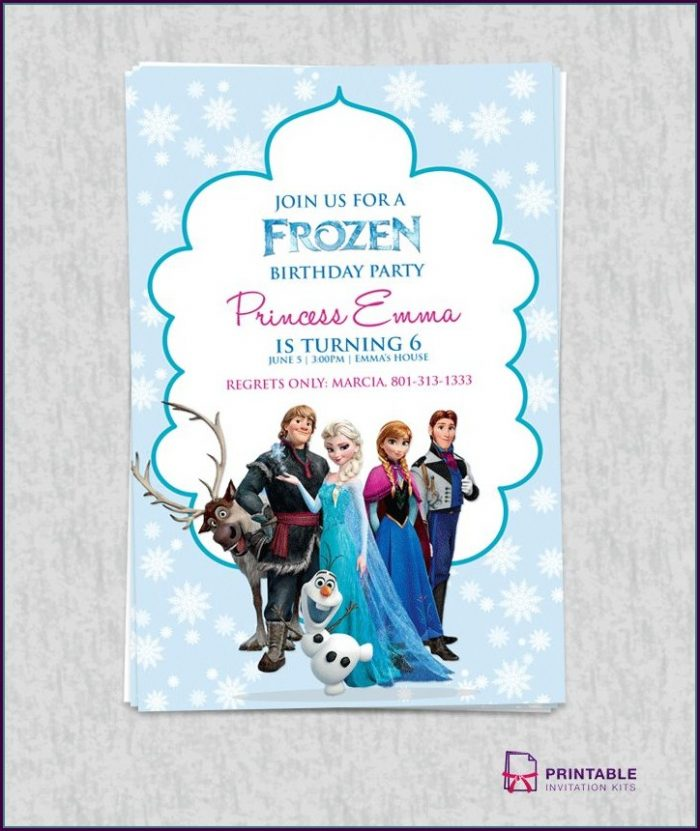 Frozen Birthday Card Template Free