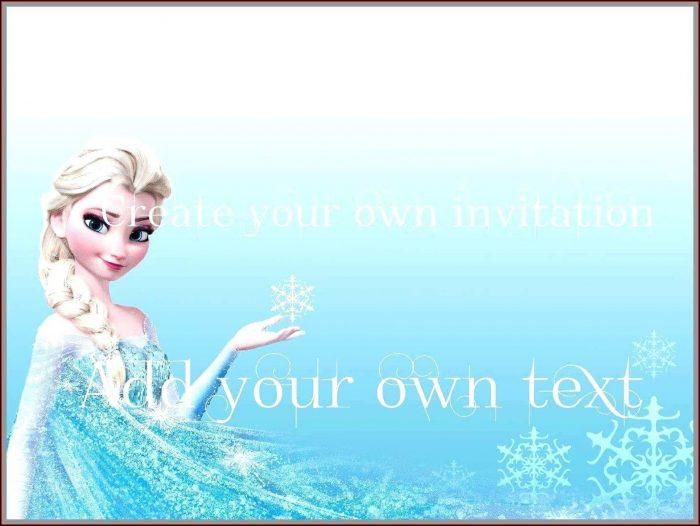 Frozen Birthday Invitation Template Free