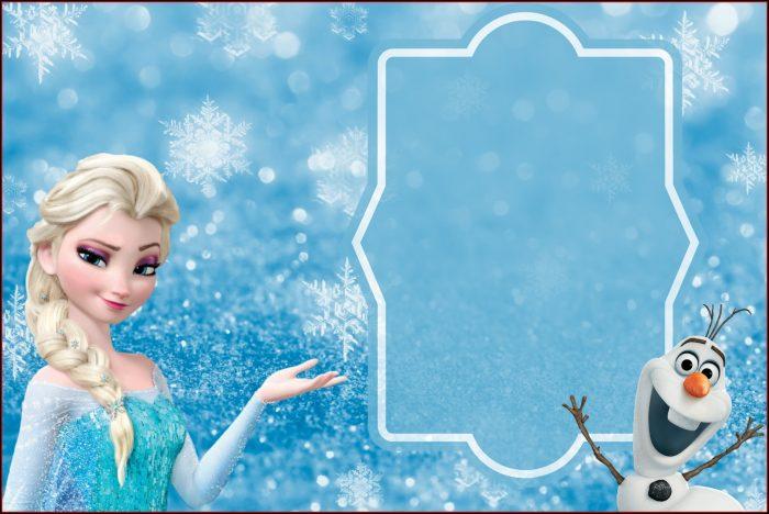 Frozen Birthday Invitation Template Free Download