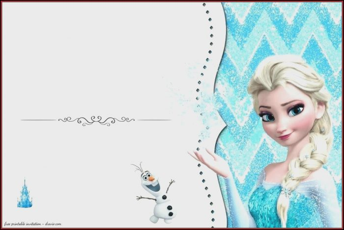 Frozen Invitation Card Template Free