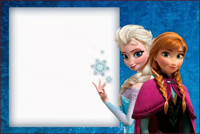 Frozen Themed Invitation Template Free