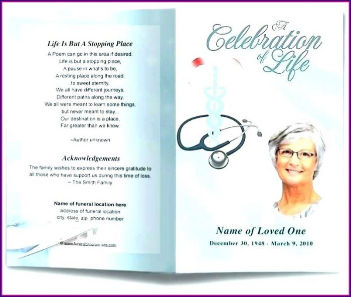 Funeral Booklet Template Publisher